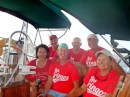 Los Gringos racing team on s/v Mezzaluna