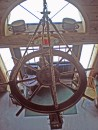 Boat wheel chandelier