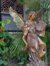 An angel in the prayer garden at San Pedro Catholic Church