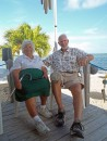 Our good friends Al and Lois on their porch at Windy Point on Geiger Key.