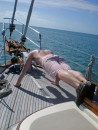 Working out aboard Mezzaluna - 60 pushups was the week