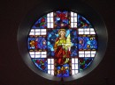 Choir loft window at St. Francis of Assisi Church