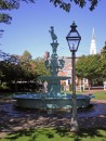 Fountain Park in Chestertown. Stocked up on fresh fruits and vegetables at the Saturday Farmers Market here.