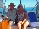 George and Barbara aboard S/V Providence. Buddies from Marathon who we sailed to Bimini with.