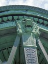 Detail of the many ton copper cupola on the top