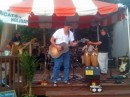 "Cats on Holiday at Sunset Grille. I was invited on stage to play shakers and sing ""wooooo, wooooo"