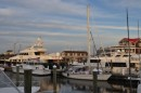Our humble home nestled among the *slightly* larger yachts... Cape May, NJ.