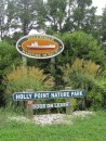 Entering the Holly Point Nature Park where the Deltaville Maritime Museum is located.