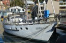 """Destiny V"" alongside at Kirribilli for the hardtop to be made up and fitted"