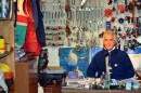 Joe Walsh in his throne room - tens of thousands of dollars in marine hardware