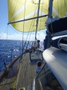 We did have some nice sailing conditions occasionally, although keeping the sail filled was sometimes impossible