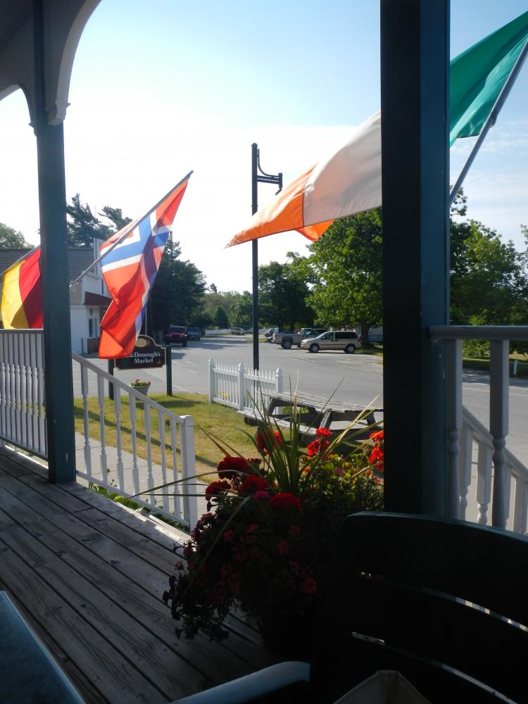 Dalwhinnie Restaurant: View from the front porch at our favorite breakfast place