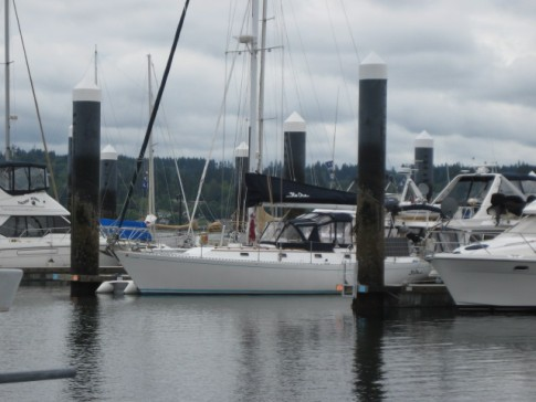 Kia Ora docked at the new Bremerton marina.