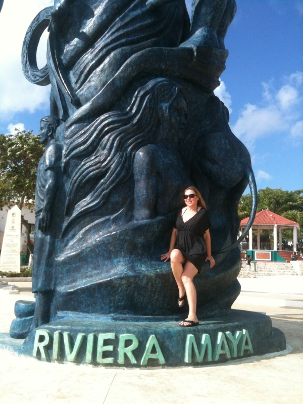 playa del carmen.. amazing monument on the beach!