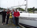 The crew at Ucluelet.  From left to right Doug, Laurent, Carole, Ken and Steve.