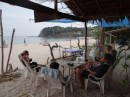 Relaxing with the crew of s/v Relapse on the beach at Ko Lanta.