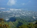 Papeete, from 1600 metres up.