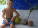 Liam loves coconuts.