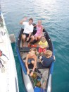 When it was time to go, Zoe drove them back to the dock.