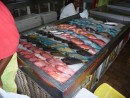 We were surprised to see reef fish being sold.
