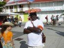Security guard, Carnival in Isle de Saintes. So fierce!