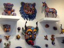 Huichol art, beads pressed into wax