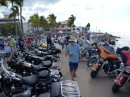 Attempt for the largest gathering of Harley Davidsons in Mexico, Malecon, PV