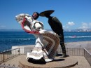 One of many sculptures on Malecon