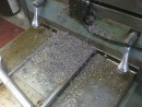Filing from machining the Rocna. I joked with Ted that we probably just voided the warranty!