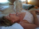 Kate catches up on some shut eye the day after Christmas after sailing to St. Martin from the BVI