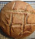 Home baked bread: Using the locally milled rye and wheat flour we bought in Maine, we
