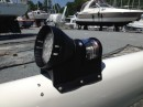 New LED steaming and foredeck light is an upgrade we added while rigging the new mast.