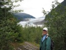 Karen on hike near Mendenhall glacier