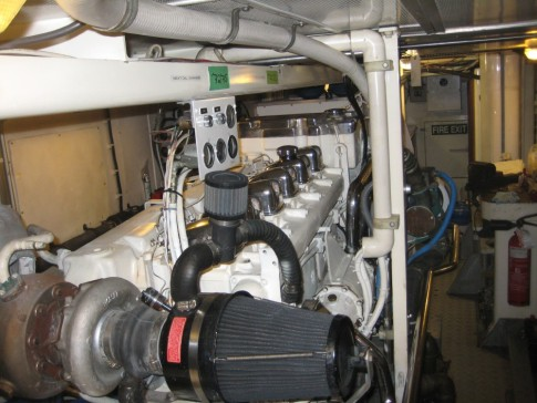 superyacht engine room (port engine)