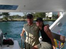 ADMIRAL 38 013sm: Captains Gary & Lisa at the helm for first test sail