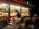 The fruit market in Argostoli, Kephalonia, carries on trade well into the night