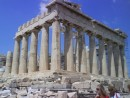 The Parthenon, without the scaffolding in view.