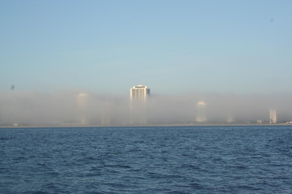 fog over Lake Worth