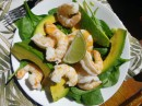 Lunch on a good day - shrimp and avocado salad