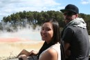 Christine and Liam at Wai-O-Tapu Thermal area