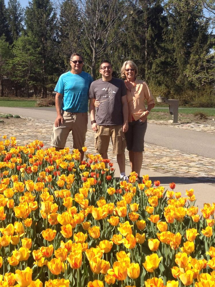 Jim, Alex and Beth, Tulip Festival, Ottawa