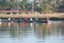 rowers go by the marina, Varadero