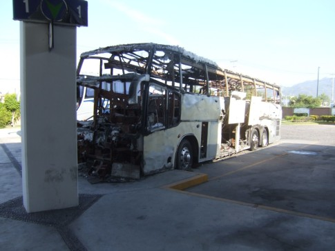 Air conditioned bus in Mexico.
