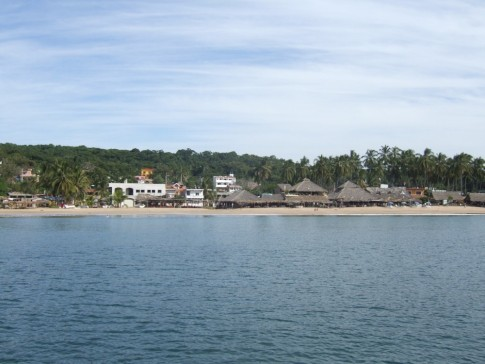 Looking at Chacala from the boat.