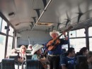 Entertainment on the bus ride to Mega