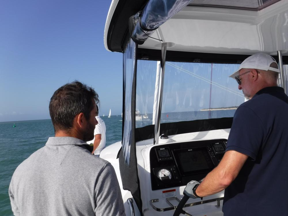 Our test sail skipper and me