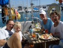 arrive Lanz MaNiLaNa: Lunch after arriving in Puerto Calero
