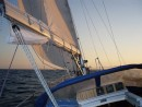 sunset sails1: Finally, on the right course...
