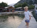 Frikes pier: On the pier in Frikes/Ithaka