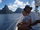 Approaching the Pitons on St. Lucia
